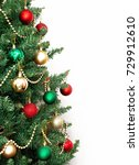 glass ball and decorations on...   Shutterstock . vector #729912610
