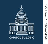 united states capitol building... | Shutterstock .eps vector #729914728
