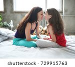 family. mother with daughter in ... | Shutterstock . vector #729915763
