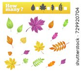 game how many pieces autumn... | Shutterstock .eps vector #729920704