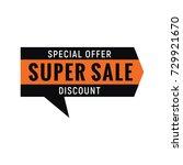 special offer sign. | Shutterstock . vector #729921670
