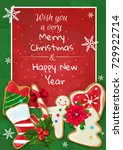 Christmas Card With Cookies An...