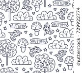 doodles cute seamless pattern.... | Shutterstock .eps vector #729922774