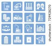 industry icon set vector | Shutterstock .eps vector #729928270