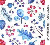 watercolor seamless pattern...   Shutterstock . vector #729928288