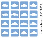 cloud icon set vector | Shutterstock .eps vector #729928414