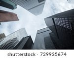 buildings in downtown toronto ... | Shutterstock . vector #729935674