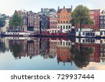 Amsterdam Canal Amstel With...