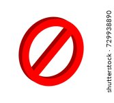 stop sign symbol. flat... | Shutterstock . vector #729938890