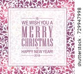 vector merry christmas and... | Shutterstock .eps vector #729947998