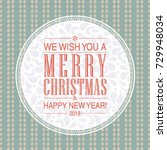 vector merry christmas and... | Shutterstock .eps vector #729948034