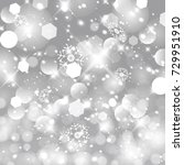 vector glittery lights silver... | Shutterstock .eps vector #729951910