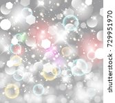 vector glittery lights silver... | Shutterstock .eps vector #729951970