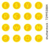 world currency icons. money and ... | Shutterstock .eps vector #729953884