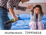 domestic violence concept in a... | Shutterstock . vector #729956818