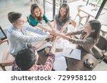 portrait of creative business... | Shutterstock . vector #729958120