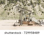 oil drilling well  northern... | Shutterstock . vector #729958489