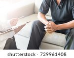 urologist doctor giving consult ... | Shutterstock . vector #729961408