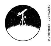telescope standing on the... | Shutterstock .eps vector #729962860