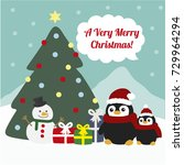 christmas greeting card with ...   Shutterstock .eps vector #729964294
