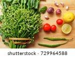 ingredient of northern thai...   Shutterstock . vector #729964588