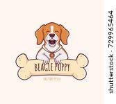 cute little beagle dog puppy... | Shutterstock .eps vector #729965464