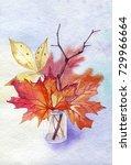 hand drawn watercolor still... | Shutterstock . vector #729966664
