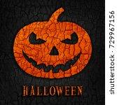 abstract halloween pumpkin on... | Shutterstock . vector #729967156