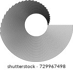 lines in circle form . spiral...   Shutterstock .eps vector #729967498