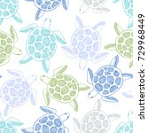seamless pattern with sea...   Shutterstock .eps vector #729968449