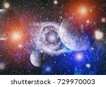 galaxy   elements of this image ... | Shutterstock . vector #729970003