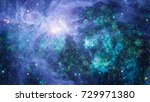 nebula and galaxies in space.... | Shutterstock . vector #729971380