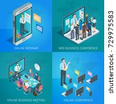 set of isometric banners on... | Shutterstock .eps vector #729975583