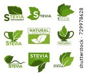 stevia sweetener sugar natural... | Shutterstock .eps vector #729978628