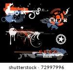 vector set of grunge design...