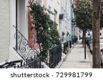 Small photo of Colourful terraced houses of Notting Hill, London.