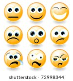 illustration set of smiley ... | Shutterstock .eps vector #72998344