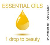 essential oils   1 one droop to ... | Shutterstock .eps vector #729985384