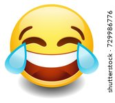 emoji tear laugh smiley face... | Shutterstock .eps vector #729986776