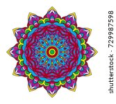 decorative mandala. vector...   Shutterstock .eps vector #729987598