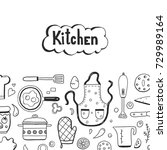hand drawn doodle template with ... | Shutterstock .eps vector #729989164