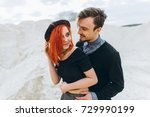 portrait of a young couple in... | Shutterstock . vector #729990199