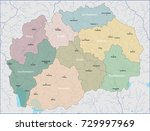 map of macedonia | Shutterstock .eps vector #729997969