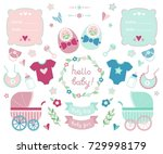 collection of design elements... | Shutterstock .eps vector #729998179