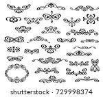 set of decorative elements.... | Shutterstock .eps vector #729998374