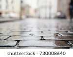 low angle shot of wet old... | Shutterstock . vector #730008640