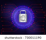 abstract background for cyber... | Shutterstock .eps vector #730011190