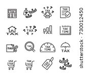 tax line icon  | Shutterstock .eps vector #730012450