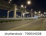 empty road floor with city... | Shutterstock . vector #730014328