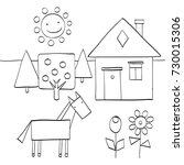 coloring page for children to... | Shutterstock .eps vector #730015306